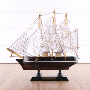 Creative Gift A Sailing Sailing Boat Big Sway Home Wooden Crafts Hand-simulated Wooden Sailing Boat Model