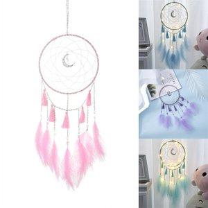 Luna nappa Dreamnets Fatti a mano in puro colore Dreamnet Piuma Vento Campanellino Decorazione per la casa Ornamenti Arte Mestieri Creativi 8 8mg L1