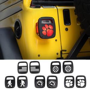 Задний задний фонарь крышки предохранителя Накладка для Jeep Wrangler TJ 1997-2006 Алюминиевый сплав Авто Внешние аксессуары