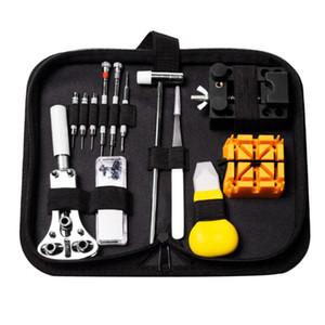 30 unids / set Pro Kit para abridor de caja de reloj Pin removedor destornillador herramienta de reparación relojero conjunto de herramientas reloj kit de reparación