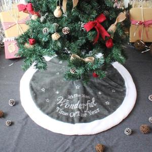 Argento Vello Christmas Tree Skirt casa natale del partito moquette Decor partito ornamenti decorazioni natalizie per la casa 90 centimetri