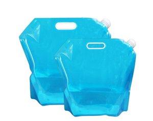 5L / 10L ao ar livre dobrável Folding dobrável Água potável Bag Car portador de água Recipiente para Outdoor Camping Caminhadas Picnic churrasco SN226