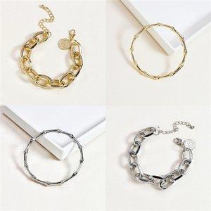 Lmnzb original del 100% del sólido 925 Cadena Sterling aleación de 20 cm de largo de la serpiente de boda joyería pulsera brazalete para las mujeres Regalo Lb005 J J 190429 190430 # 481