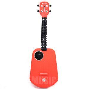 Populele 4 cordes 23 pouces Bluetooth USB intelligent Ukulele avec la lumière LED