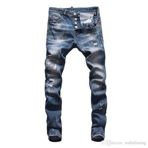 2020 mens designer jeans quality mens slim denim straight biker skinny jeans casual long men distressed New Style luxury fashion mens pants