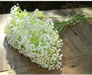 Gypsophila Bebek Nefesi Yapay Sahte Ipek Çiçek Ev Düğün Bahçe Dekorasyon BabysBreath Beyaz Yapay Çiçek Gypsophila VT0960