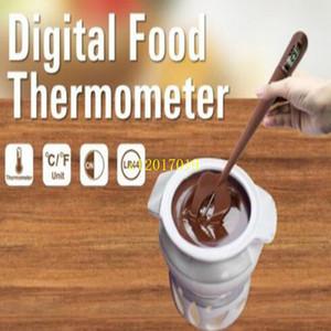 Nouvelle arrivée 20pcs / lot Numérique Silicone Spatule Thermomètre de Cuisson Grande Spatule pour Bonbons, Chocolat, Crèmes, Sauces