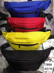 Bolsos de hombro del bolso del pecho mayor de la alta calidad Oxford ocio Fanny Pack para Mujeres Niñas Carta Bolsa de cintura Packs 4 colores envío