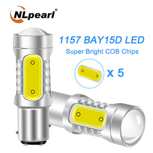 Nlpearl 2x Signal Lamp 1157 BAY15D P21 / 5W Ded Car Reverse Brake Lamp COB P21W BA15S LED 1156 BA15S Auto Turn Signal Light 12V
