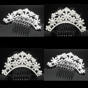 Gelinler Şapkalar Düğün Aksesuarları Gelin Taç Saç Tarak Kadın Rhinestone Updo Çiçek Interposing Combs Sıcak Satış 5 5hp L1