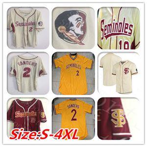 Özelleştirilmiş Koleji Florida State Seminoles Beyzbol Formalar Buster Posey Deion Sanders Dick Howser Drew Mendoza Drew Parrish FSU Gömlek
