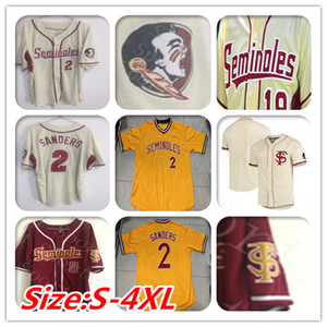 Personalizadas en la universidad de Florida State Seminoles jerseys del béisbol de Buster Posey Deion Sanders Dick Howser dibujó Mendoza dibujó Parrish FSU camisas