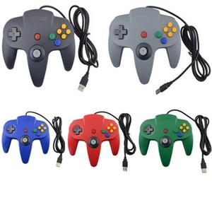 Heiße verkaufende USB Stiel Game Controller Pad Joystick für PC Nintendo 64 N64-System mit bunten Kasten 5 Farben auf Lager