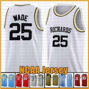 3 Dwyane Wade 10 Dennis Rodman 25 RICHARDS Marquette Eagles maglie NCAA College Basketball Jersey 23 James 2 Leonard 11 Irving 30 Curry