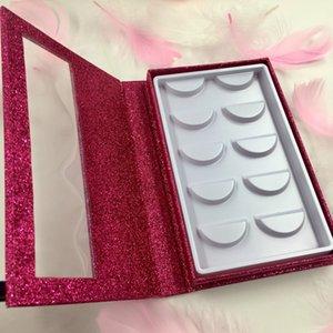 Лэш Book Fit 5Pairs Ресницы Пользовательские Eye Lash Упаковка с Private Label пустой книги с Lashes Tray FDshine