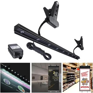 9w Led Light For Retractable Roll Up Banner Stand Adjustable Ip65 Waterproof Clip On Display Lamp Trade Show