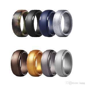 Wedding Ring Silicone para Arestas Wedding Bands Homens elegante 8 milímetros Acessível borracha de silicone Men Womens Engagment chanfradas