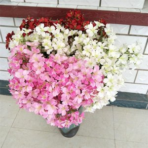 """Falso singolo Cherry Blossoms (5 gambi / pezzo) 33.46"""" Lunghezza simulazione Elm fiori per il matrimonio la casa decorativi Fiori Artificiali"""