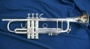 Trumpet Bach Silver Plated LT180S 37 Trumpet Engraved with Original Blue Case Bb Tone Musical Instruments