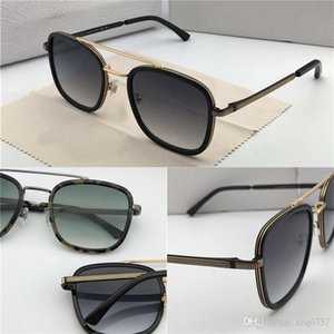 New Fashion Designer Sonnenbrille JOHN Platte quadratischen Rahmen Metall Tropfen Öl Beine Top-Qualität beliebte einfache Art uv400 Objektiv