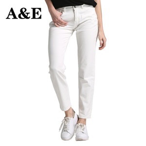 Alice Elmer Boyfriend jeans bianchi per le donne Jeans Pantaloni Donne Jeans denim a vita media Pantaloni femminili MX190712