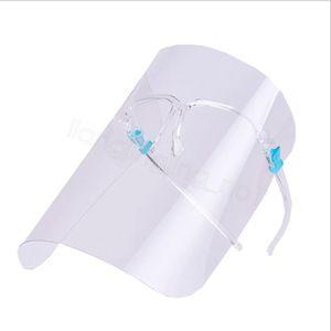 PET Gesicht klar Schild mit Sonnenbrille Halter Sicherheit Küche Öl-spritzwassergeschützt im Freien transparenten Schutzvollmaske FFA4233-3