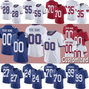 Nueva York personalizadaGiganteJersey 2 Aldrick ROSAS EVAN ENGRAM 27 DEANDRE BAKER 11 Phil Simms fútbol jerseys