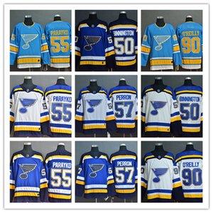 St. Louis Blues ice ball jerseys hockey jersey 57 perron 90 o'reilly 55 parayko 50 binnington shirt kids youth adult boy girl shirts