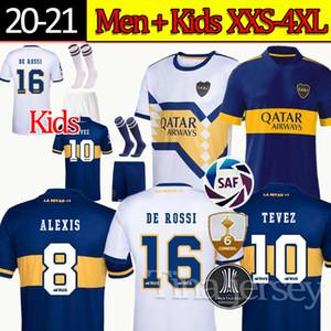 Camiseta Boca Juniors camiseta de fútbol 20 21 DE ROSSI TEVEZ MARADONA MAURO ABILA 2020 2021 nuevo Patrocinador otro lado en blanco camiseta de fútbol kit Hombres Niños