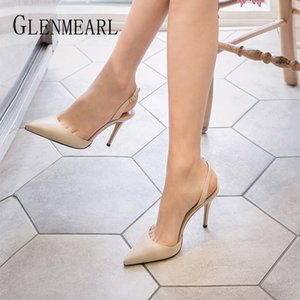 Heels Women Pumps Female Shoes High Heels Fashion Buckle Strape Pointed Toe Wedding Shoes Spring Autumn Casual Shoes Plus Size D Y200702