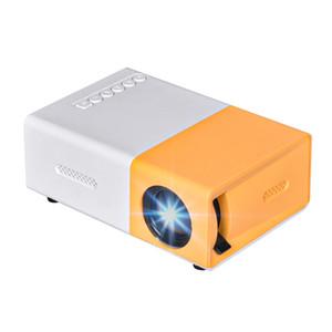 USB Salange YG300 Mini proyector LED proyector LCD Projetor audio HDMI Mini Proyector de cine en casa YG300 Media Player Beamer