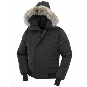 Winter Jacket Fourrure Down Parka Homme Putin Chaquetas Outerwear Big Fur Hooded Fourrure Manteau Canada Down Jacket Coat Size XS-XXL
