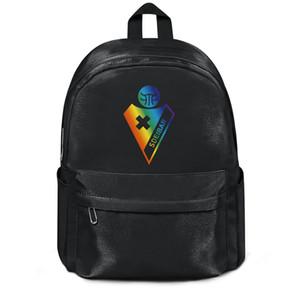 Sociedad Deportiva Eibar S.A.D. Gay pride rainbow series Envío gratis Mujeres Nylon Mochila de doble hombro Impermeable Viaje de regreso