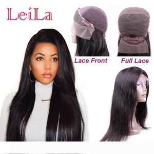 Brazilian Straight Hair Natural Color Lace Front Wig Full Lace Wig Silk Straight Cheap Virgin Hair Free Part