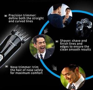 Kemei KM-600, работающий от батареи 2 В 1 Электрический Бритье Нос уха Триммер моющийся Борода волос Бритва Face Care Device bwkf fBAcJ