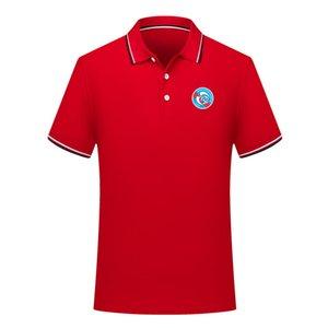 2020 RC Strasbourg verano nuevo algodón manga corta estilo de la solapa del polo de polo del fútbol camisa de entrenamiento camiseta de fútbol de la camisa de polo de los hombres de los hombres de los polos