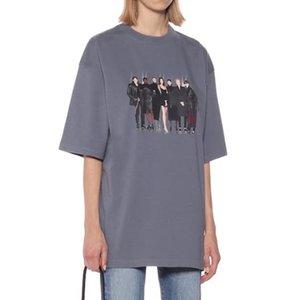 20SS banda del modelo de foto impresa Calle tee de cuello redondo manga corta de la nueva alta de fin de viaje camiseta transpirable verano tee HFYMTX848