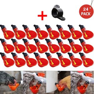 12 24PCS Feed Automatic Bird Coop Poultry Chicken Fowl Drinker Water Drinking Cup For Chicken Feeder Fowl Cook Bowl Dropshipping
