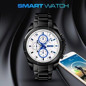 Smart Bluetooth Men Watch Fashion Casual Calorie Mileage Relojes para hombre Cuarzo 24 horas Fecha Reloj Aleación Impermeable Reloj deportivo