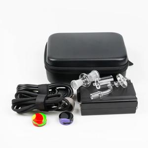 Portable Quartz E ongles Kits dab ENail PTD Temp contrôle Dabber Boîte avec 25 mm OD Quartz Nails pour le verre Bong