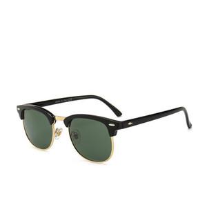Diseño de marca de lujo Polarizado 3016 gafas de sol Hombres Mujeres piloto gafas de sol UV400 Gafas Bans marco de los vidrios del metal lente polaroid con la caja