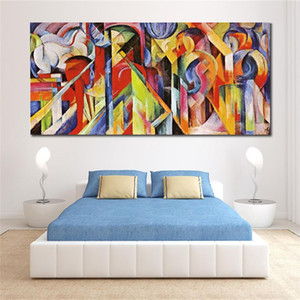 artwork colorido Franz Marc Stables pinturas em tela abstrata Handmade