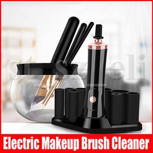 Maquillaje eléctrica cepillo limpiador Secadora rápida silicona Lavadora automática depurador Junta cosmético compone cepillos Herramientas de limpieza
