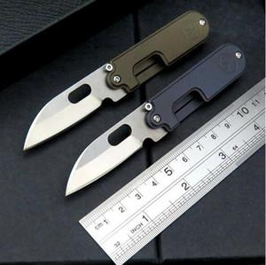 고품질 서지 콩 S35VN 100 % 61HRC는 남자 1PCS를위한 PA 선물 칼을 접는 블레이드 티타늄 핸들 포켓 나이프 키 체인을 stonewashed