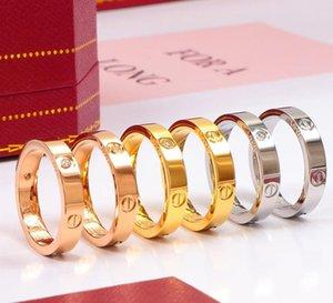 2020 Горячие Boutique 316L Любовь Titanium стальные гвозди Кольца Lovers Ленточные кольца Размер для женщин и мужчин марка ювелирных изделий NO оригинальной коробке