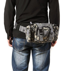 Tactical Bag Esporte Sacos 600D À Prova D 'Água Oxford Pacote de Cintura Militar Molle Bolsa Mochila Durável Ao Ar Livre Mochila forCamping Caminhadas