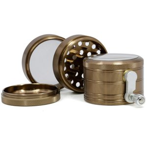 New hot CNC Dia.63MM Multi Colors 2.5 Inches 4 Layers Aluminium Herb Grinder Metal Smoking Grinder With Side Rolling