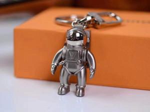 la mode porte-clés en alliage de haute qualité design moderne astronaute voiture clé chaîne dame sac boîte assortie pendentif