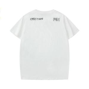 20SS Christian тенниска для мужчин Париж ЛОГОС Модельер футболки Франция Марка Street Короткие рукава люкс рубашки S-XXL CYP2020182