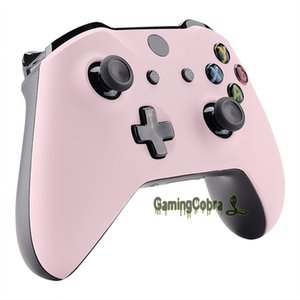 Sakura Pink Soft Touch Faceplate Top Housing Shell Replacement Part for Xbox One S Xbox One X Controller (1708) #SXOFX17